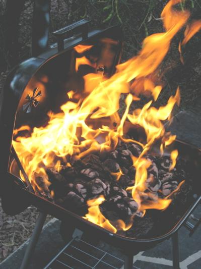 Unattended barbecue/Ryn Gargulinski