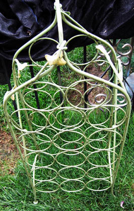 BEFORE: Junky wine rack/Photo Ryn Gargulinski