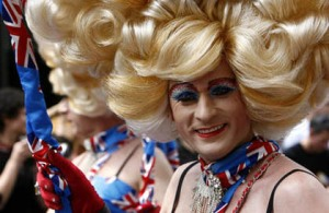 Not the Sears guy, but a participant in London's July 4 gay parade/AP Photo