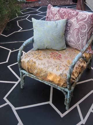 Revamped patio chair/Photo and chair decor by Ryn Gargulinski