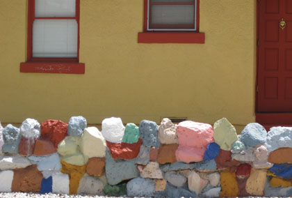 Multi-colored stone wall/Ryn Gargulinski
