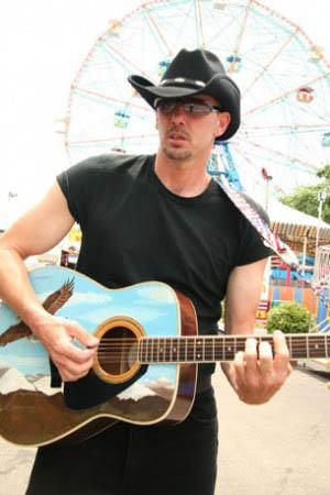Tom in front of Coney Island's Wonder Wheel/Daddy Rocker photo