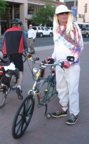 Tucson cyclist at downtown bike fair/Ryn Gargulinski