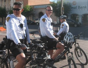 Tucson police on bike patrol at downtown bike fair/Ryn Gargulinski