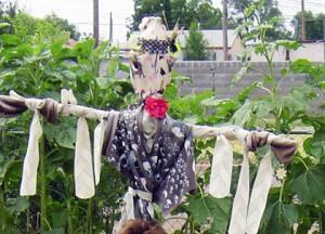 Bertha in all her glory/Scarecrow by Ryn Gargulinski