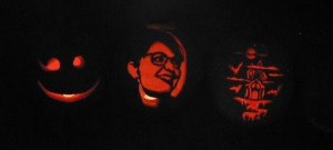 AZMouse's infamous Sarah Palin pumpkin and two others/submitted photo