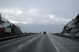 Icy highway/Ryn Gargulinski
