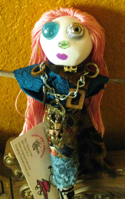 Lucky Voodoo Doll. See more HERE/Art and photo Ryn Gargulinski
