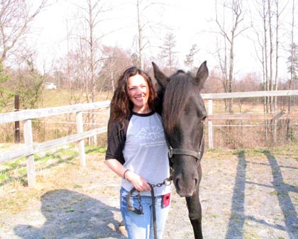 Gloria with her horse Bella. She has a second horse, Leo/submitted photo