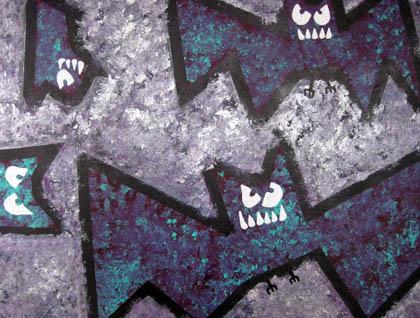 Vampire bat photo and painting by Ryn Gargulinski
