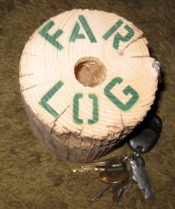 Far-log key chain/Ryn Gargulinski