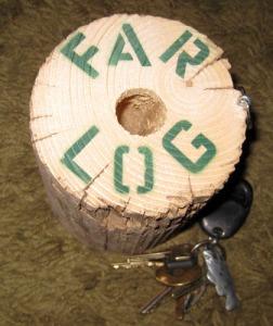 Far-log key chain/Ryn Gargulinski