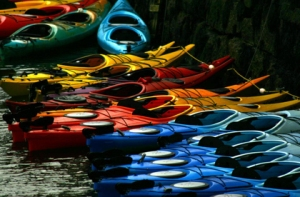 Kayaks in Rockport, Mass./Photo Salena Lettera