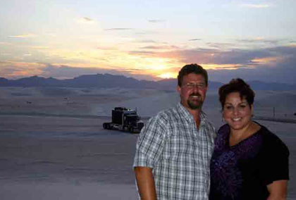 Salena and Ed in White Sands, N.M./Photo Salena Lettera