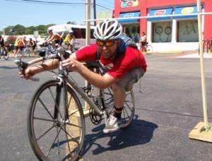 Bicycle limbo/Urban Assault Ride photo