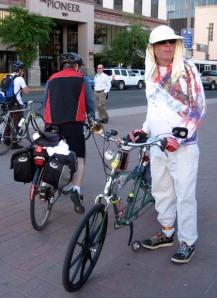 Tucson cyclist at past Bike to Work fest/Ryn Gargulinski