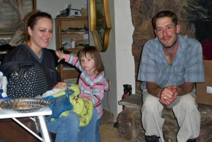Aaron with Andrea Hall and her daughter/submitted photo