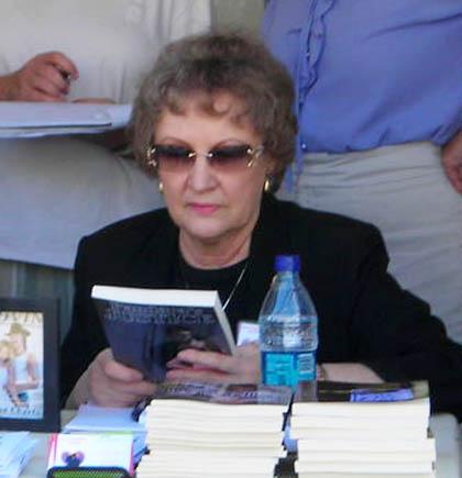 Tucson author Eula Slauson at UA book signing/photo courtesy author website