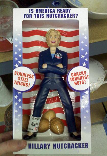 Hillary Clinton nutcracker doll/AZMouse photo