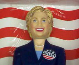 Close up of Hillary Clinton nutcracker doll/AZMouse photo