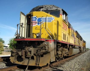 Union Pacific locomotive we got to ride inside/Ryn Gargulinski