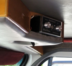 Digital music box attached to ice cream truck ceiling/Ryn Gargulinski