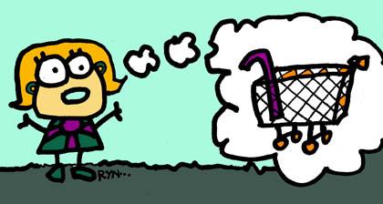 My friend realized she forgot her cane at Home Depot/Illustration Ryn Gargulinski