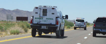Border Patrol cruising down Interstate 10/submitted photo